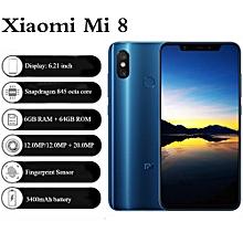 """Xiaomi Mi 8 6.21"""" 6GB RAM + 64GB ROM MIUI 9 3400mAh - Blue"""