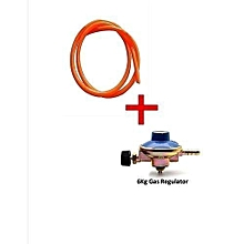 6kg Gas Regulator Plus FREE Gas Delivery Pipe  (for 6Kg Gas Cylinder)