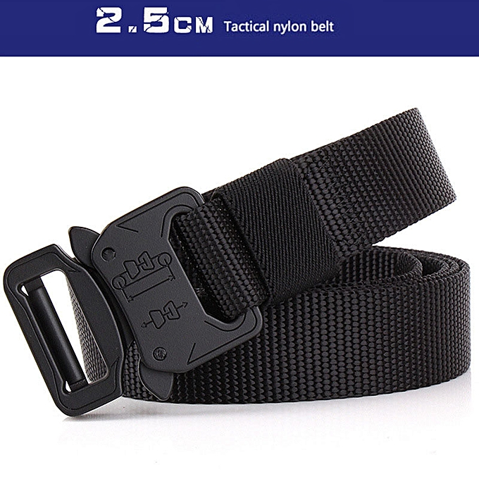 d809a45a5ab Heavy Duty Waist Support Tactical Belt Automatic Buckle Nylon Adjustable  Tactical Training Waistband Outdoor Belts