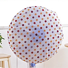 Printing Electric Fan Cover Dust-proof Protective Cap Stand Guard orange