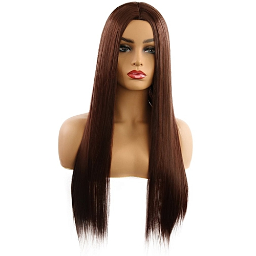 Allwin Long Straight Hair Synthetic Hair None Lace Wigs Straight Heat  Resistant   Best Price  a9b80774015e