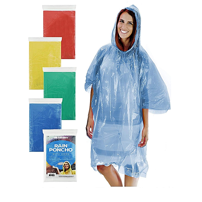 ffdd781e0710c Rain Poncho for Adults Women & Men, One Size Fits All – Emergency Poncho for