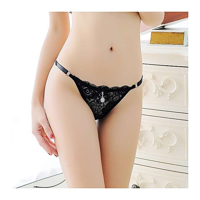 eb3b321e9b New Sexy panties ladies adjustable lace low waist hot transparent  temptation large size thong pants t