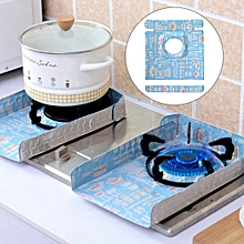 2 PCS Gas Stove Protectors Tableware Print Foil Heat-resistant Anti-Fouling Liner Cleaning Kitchen Tools Mat