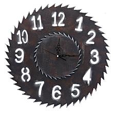 Wall Clock Antique Handmade Wooden Vintage Gear Clock,Wheel Gear Shaped