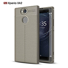 Ultra-Thin Protective Phone Cover Rubber-Case Gel Soft Skin, Shockproof Slim Back Bumper Protector Back-Case Shell For Sony Xperia XA2 5.2 Inch  (Grey)