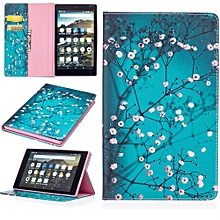 Folding Stand Painted Leather Case Cover For  Amazon Kindle Fire HD8 8 Inch