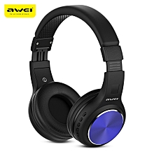 AWEI A600BL Wireless Bluetooth Over-ear Headphones Stereo Sound Noise Canceling with MIC-BLUE