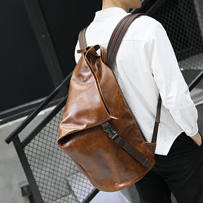 d067837c1313 High Quality Man Bag Fashion Men Backpack Leather Travel Bag Men School Bag