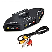 Audio-Video input Selector - Black