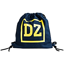 jiuhap store Unisex Canvas Bag Bundle Travel backpack Simple Shopping Bag Student Bag-Blue