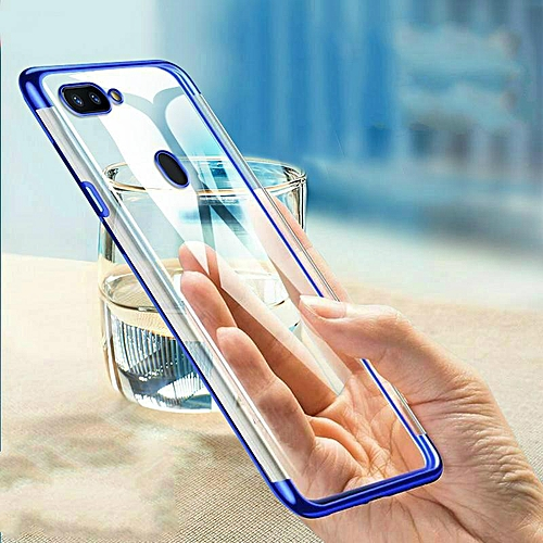 c6ca9b9134 Generic For Realme U1 Soft Case Transparent Plating Electroplate Shining Clear  Casing For OPPO Realme U1 Cover Housing (Realme U1-Blue)