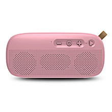 NR - 4012 Waterproof Wireless Bluetooth Speaker Stereo Sound Player-PINK