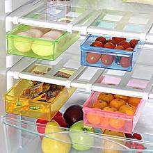 Slide Kitchen Fridge Freezer Space Saver Refrigerator Storage Rack Shelf Multifunction Storage Tools