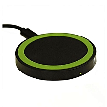 QI Wireless Charging Charger Pad For Nokia Lumia Sansung Galaxy Sony Nexus Phone Black+Green