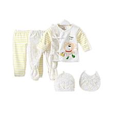 five-piece set of infant underwear for newborn babies Pure cotton Comfortable Cartoon Stripe