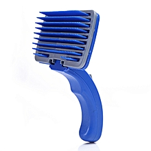 Pet Dog Cat Hair Fur Shedding Trimmer Grooming Rake Professional Comb Brush Tool-Blue