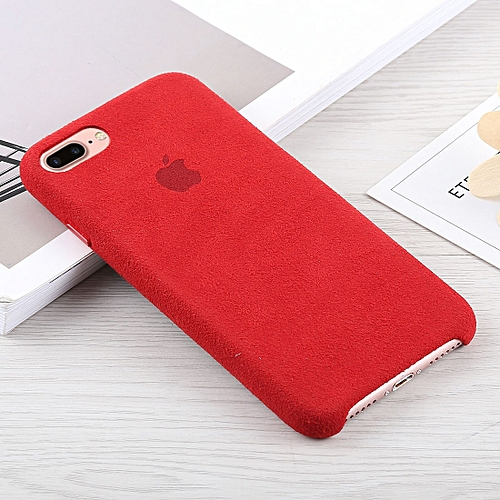 sports shoes 90bb8 8f048 Alcantara + PC Suede Protective Back Cover Case for iPhone 8 Plus & 7 Plus  (Red)