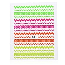 3D Colorful Nail Art Foil Tips Polish Stickers Watermark Decal DIY Decoration