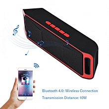 Bass Subwoofer Bluetooth 4.0 Speaker Stereo TF Card USB AUX FM Radio Mic Hands-Free Call Red