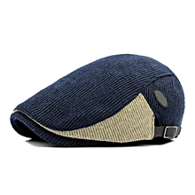 Unisex Cotton Knitted Beret Caps Knitting Buckle Adjustable Paper Boy Newsboy Cabbie Gentleman Cap
