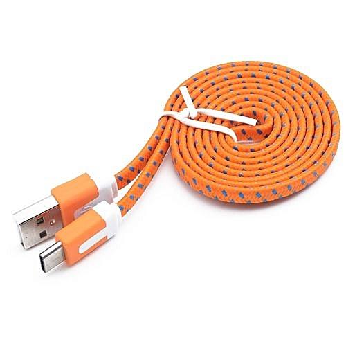 Genuine Nylon Braided USB 3.1 Type-C Data Sync Charger Charging Cable 3M-Orange