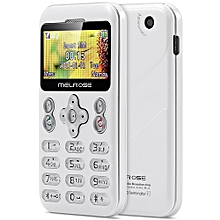 MELROSE M6 1.70 inch Pocket Card Phone Camera Bluetooth MP3 Playback FM Alarm Recorder Calender WHITE
