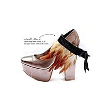 NGOMA Feather Cuff - Multi Purpose Jewellery - Chocolate Roulade