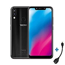 "Camon 11 -[32GB+3GBRAM]- 4GLTE -6.2"" -16MP- Dual SIM- Black + Free OTG Cable."