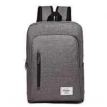 Backpack Laptop Bag Pack Travel Vintage Teenage College Double Shoulder School Pure-gray