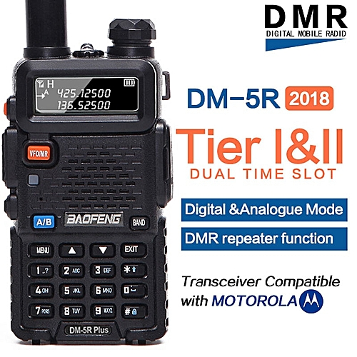 DM-5R PLUS Tier 1 Tier 2 Digital Walkie Talkie Repeater dual time slot DMR  Two-way radio VHF/UHF Dual Band ham radio AKESI