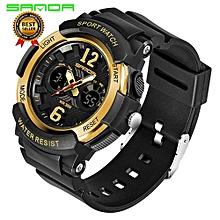 SANDA Fashion Sports Children Watch LED Digital Quartz Watches Waterproof Alarm Back Light Wristwatch Boys Girls Students Clock 757
