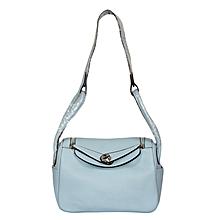 Sky Blue  PU Leather Sling Bag