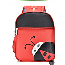 Cartoon Kindergarten School Bag- Red