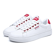 Women's Lace-up Sneakers Skateboarding Shoes Casual Sports Flat Shoes