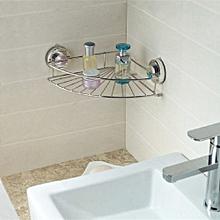 Corner Shelf Shower Basket Stainless Steel Bathroom Shelf Shower Shampoo Holder Silver