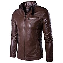 100% Leather Spring Men's Genuine Leather Plus Size Jackets Real Sheepskin Black Male Genuine Leather Jacket For Men -coffee