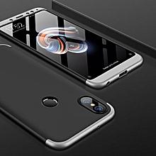 GKK Xiaomi Redmi Note 5 Pro Three-paragraph 360 Degree Full Coverage PC Protective Case Back Cover (Black+Silver)