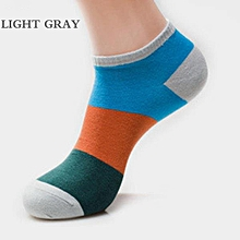 Mens Summer Cotton Breathable Splicing Color Socks