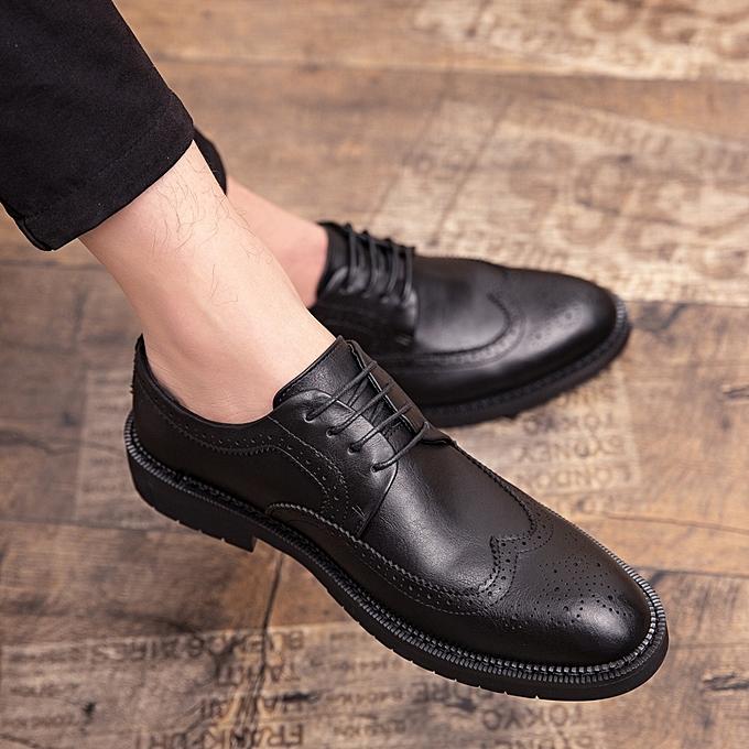 Generic Eur Size 38 46 Retro Style Brogue Leather Shoes Men Fashion