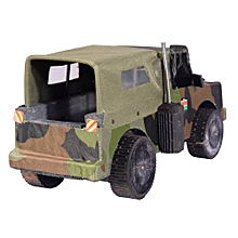 Kid's Wooden DURABLE Police/ Military Toy Car