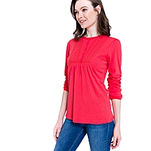 Red Fashionable Solid Standard T-Shirt