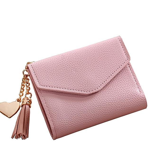 0ff53cb6a57f Women Mini Tassel Wallet Card Holder Clutch Coin Purse Leather Handbag  Purse#pink