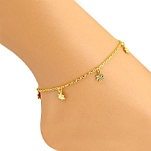Flowers Women Ankle Bracelet Barefoot Sandal Beach Foot Jewelry
