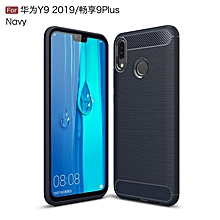 Case For Huawei Y9 2019 Luxury Carbon Fiber Business Soft Silicone Back Cover Case For Huawei Enjoy 9Plus Phone Coque Fundas