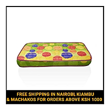"Superfoam Multi-Colored Baby Cot Mattress (Foam Medium Density Mattress, Firm) 48"" x 30"" x 4"""