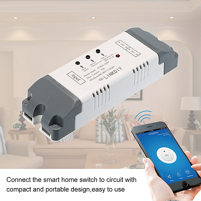 Sonoff Smart Wifi Switch Universal Module 2CH AC85-250V Wireless Switch  Timer Phone APP Remote Control Compatible with