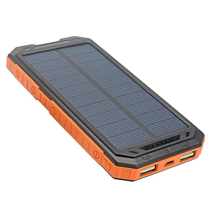 online retailer d9b90 1f51c Power Bank 300000mAh Portable Dual USB Waterproof Solar Charger Case No  Battery # Orange