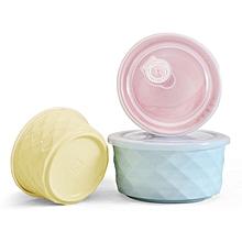Xiaomi 3pcs Colorful Porcelain Sealed Bowls Set Large Soup Salad Bowl Set With Lids