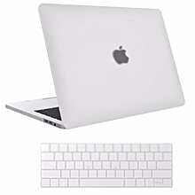 MacBook Pro (A1706/A1708)13 inch Case 2017 & 2016 ReleaseA1706/A1708. Pro Case Rubberized Hard Case Shell Cover and KeyboardSkin Cover for Apple Macbook Pro 13 Inch with/without Touch Bar andTouch ID (White)